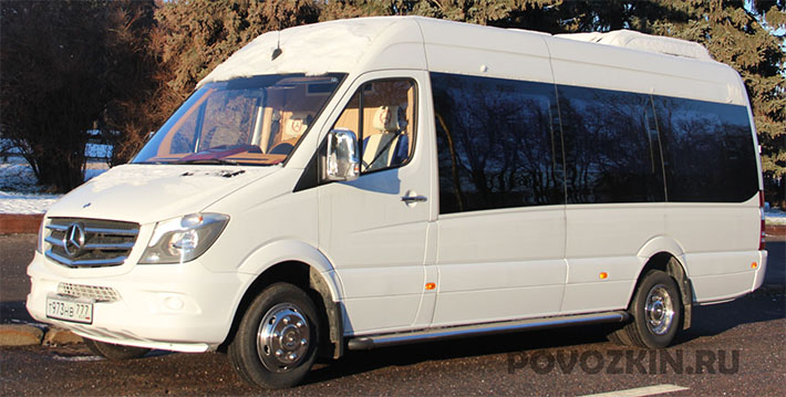 Перевозка людей на микроавтобусе